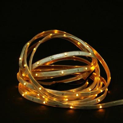 Northlight 18' Amber LED Outdoor Christmas Linear Tape Lighting - White Finish