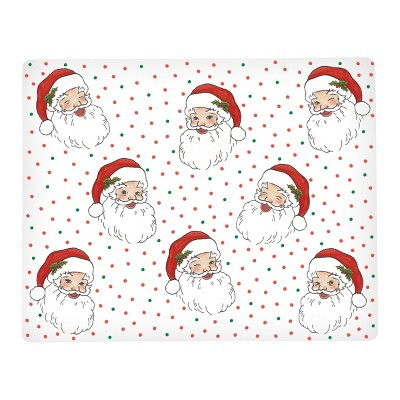 C&F Home Santa Face Hardboard Placemat Set of 6