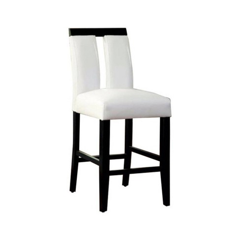 Set of 2 Contemporary Counter Height Chairs White/Black - Benzara - image 1 of 1