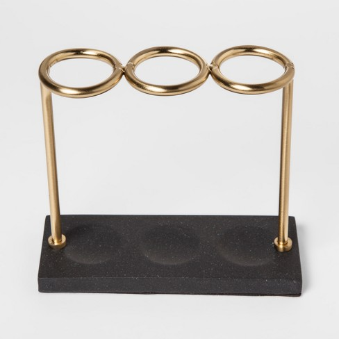 Solid Toothbrush Holder Gold Wire