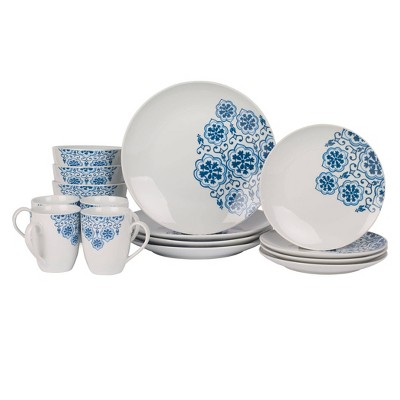 16pc Porcelain Issac Dinnerware Set - Tabletops Gallery