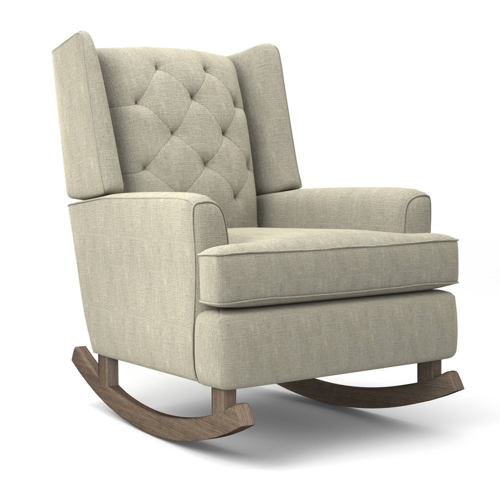 Image of Best Home Furnishings Ames Upholstered Runner Rocker - Tusk, White