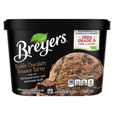 Breyer's Brownie Batter Swirl Ice Cream - 48oz