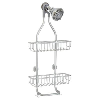 Rustproof Aluminum Bathroom Shower Caddy Silver - InterDesign