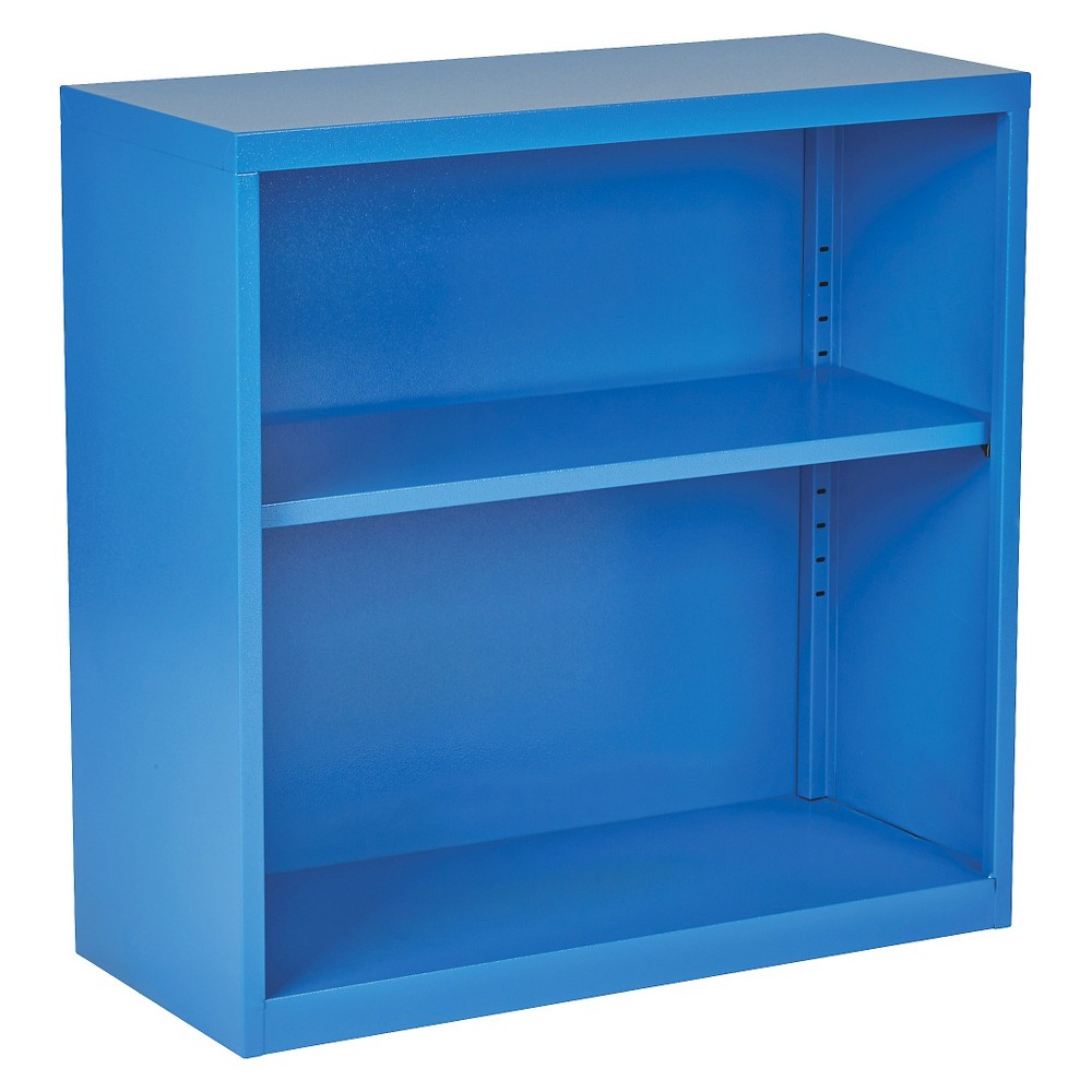 """Image of """"28"""""""" Metal Bookcase Blue - OSP Home Furnishings"""""""