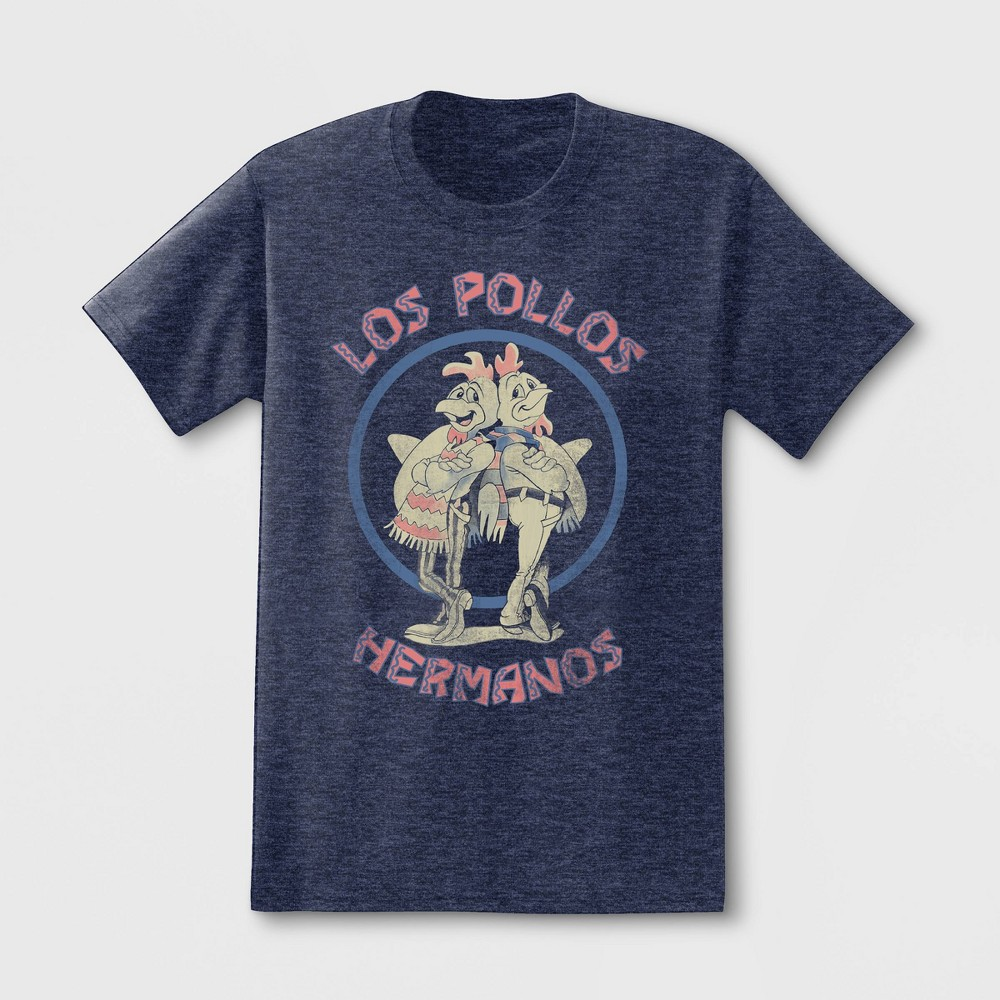 Image of petiteMen's Breaking Bad Los Pollos Short Sleeve Graphic T-Shirt - Blue 2XL, Men's