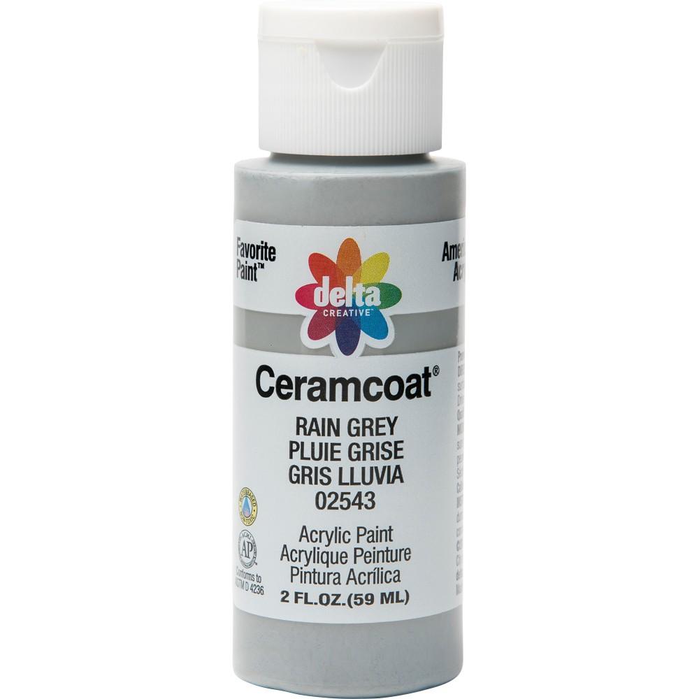 2 fl oz Acrylic Craft Paint Rain Gray - Delta Ceramcoat