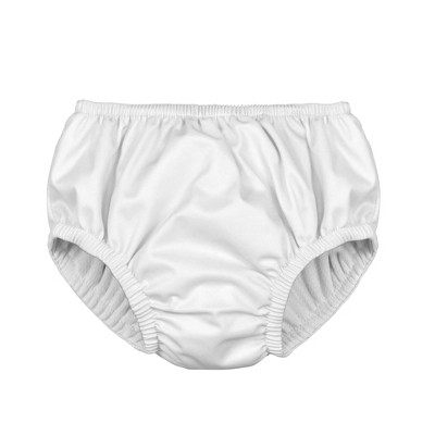 i play Baby Solid Pull-up Reusable Swim Diaper - White M