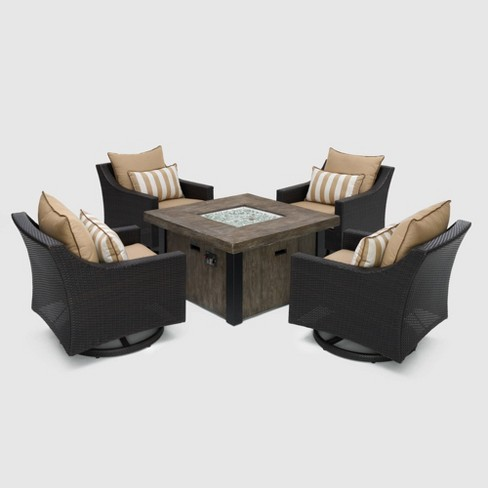 Deco 5pc Motion Fire Conversation Set in Maxim Beige - RST Brands - image 1 of 4