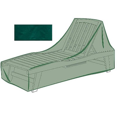 Plow & Hearth - All-Weather Outdoor Cover for Long Chaise Lounge