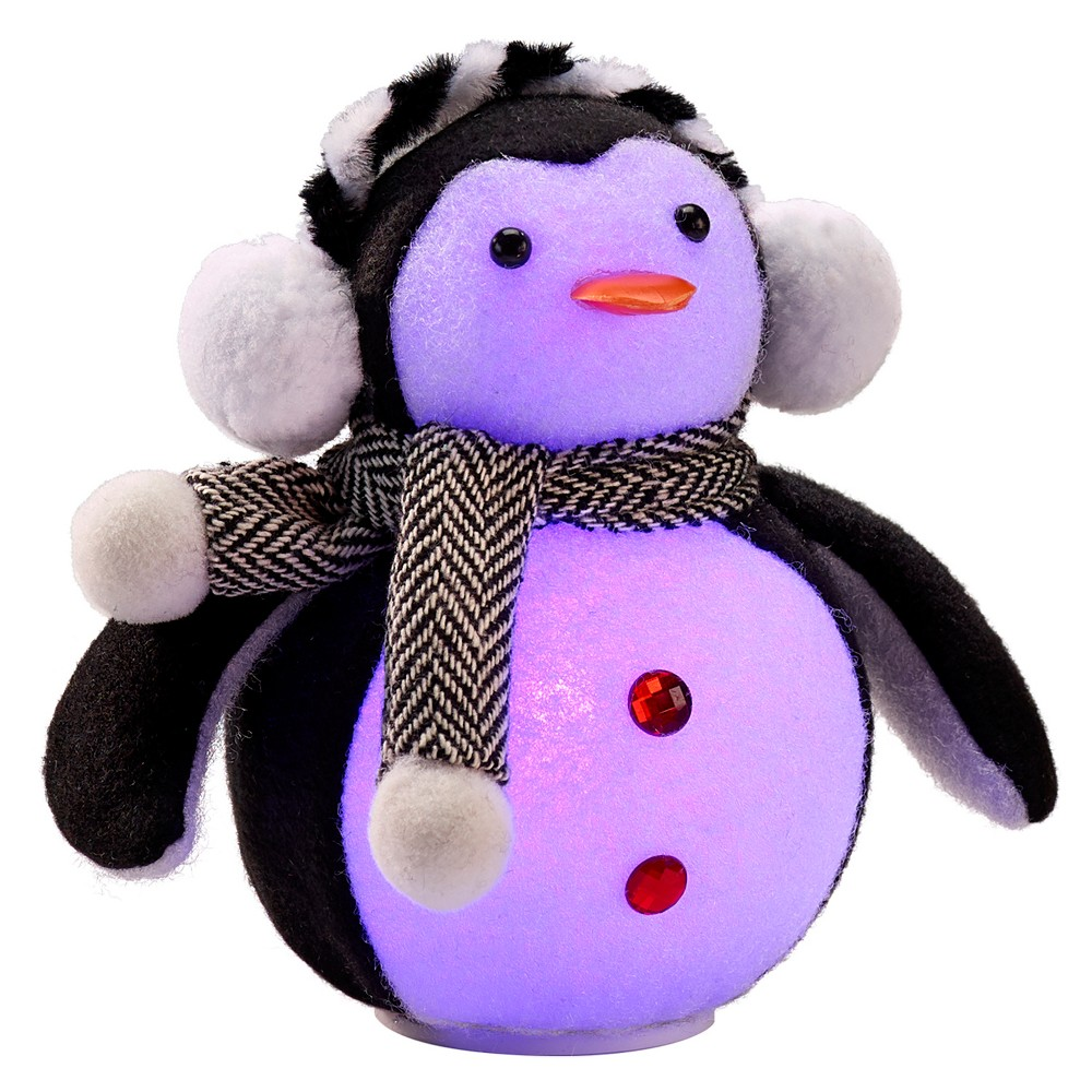 Philips 1ct Christmas Led Penguin Figurine Battery Operated Color Changing, Multi-Colored