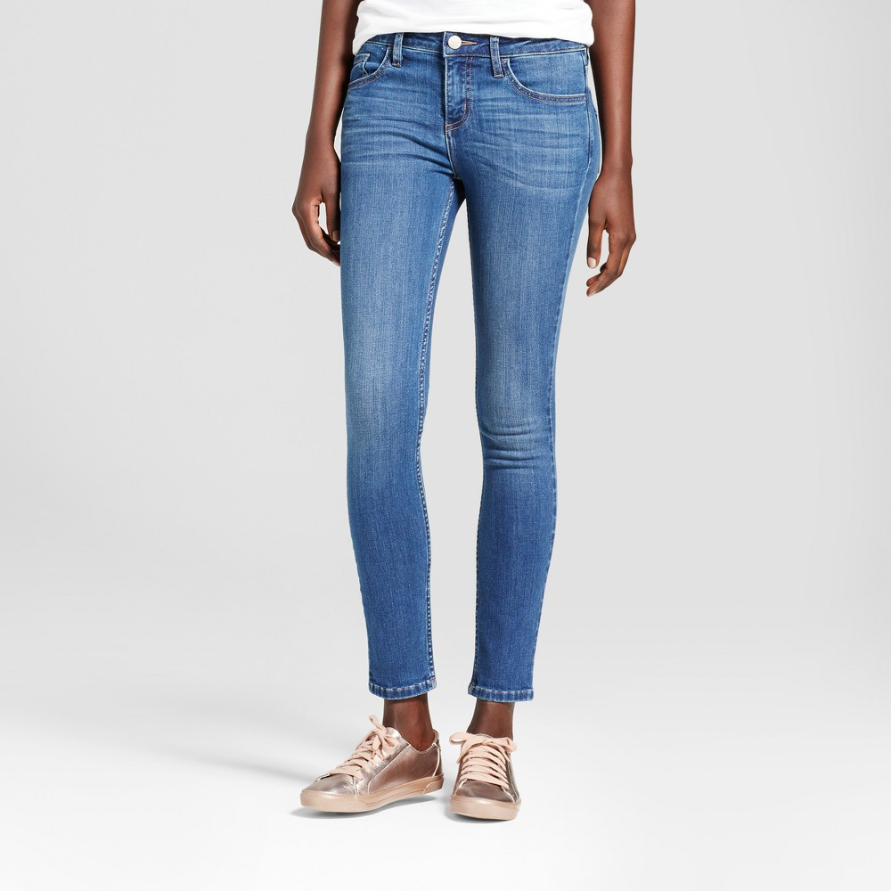 Women's Modern Fit Skinny Jeans - Crafted by Lee Medium Denim Wash 14 Short