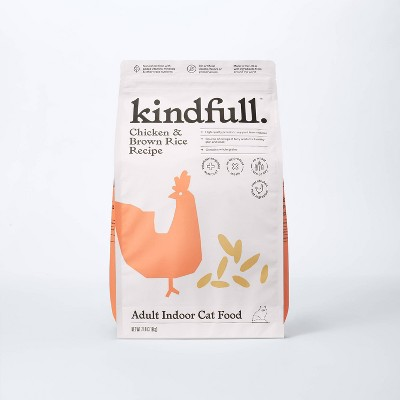 Indoor Chicken and Brown Rice Recipe Dry Cat Food - Kindfull™