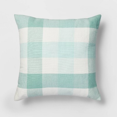 Square Check Pillow Mint/White - Threshold™