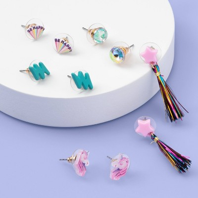 Girls' 6pk Heart Diamond Earrings - More Than Magic™