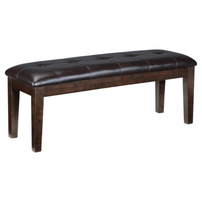 Haddigan Large Upholstered Dining Room Bench Wood/Dark Brown - Signature Design by Ashley