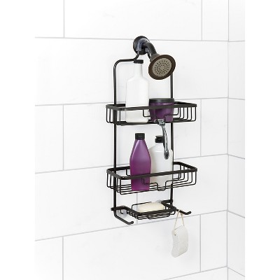 Zenna Home Aluminum Shower Caddy Oil Rubbed Bronze Large
