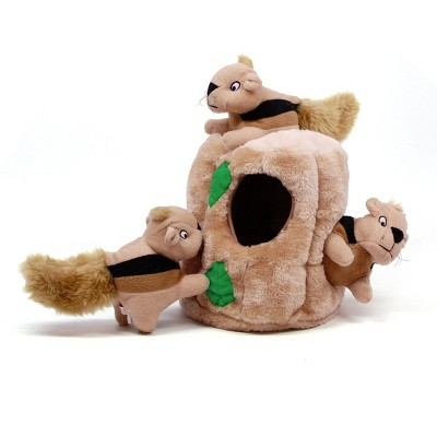 Outward Hound Hide-A-Squirrel Puzzle Plush Dog Toy - L