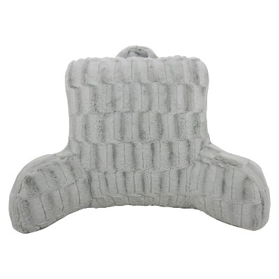 Silver Nevada Cut Plush Bed Rest Lounger Support Pillow - Elements By Arlee
