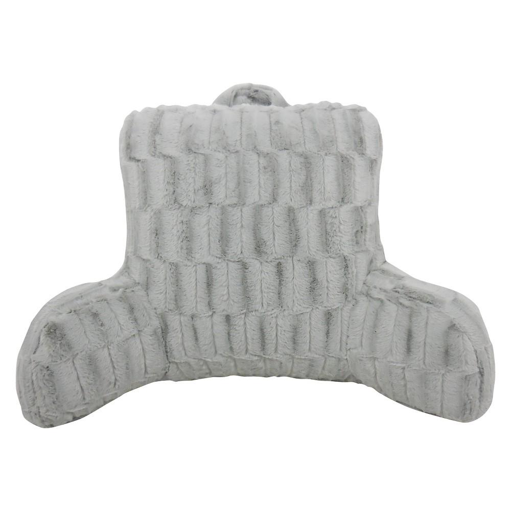 Image of Silver Nevada Cut Plush Bed Rest Lounger Support Pillow - Elements By Arlee