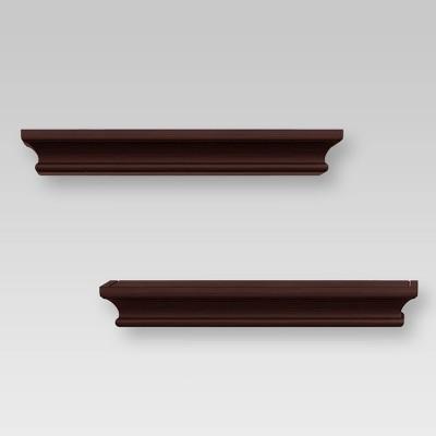 2pc Traditional Wall Shelf Set Brown - Threshold™