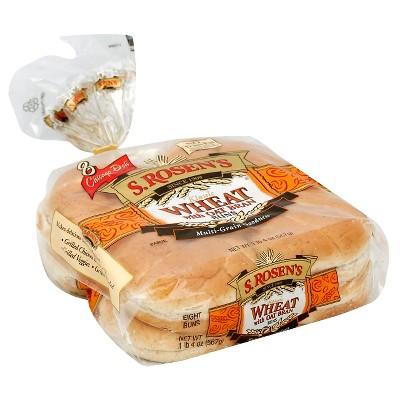 S. Rosen's Wheat with Oat Bran Hamburger Buns - 8ct/20oz