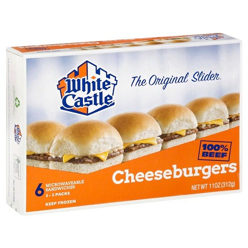 White Castle Microwaveable Frozen Cheeseburgers - 6pk - image 1 of 1