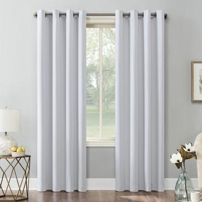 "84""x54"" Kenneth Energy Saving Blackout Grommet Top Curtain Panel White - Sun Zero"