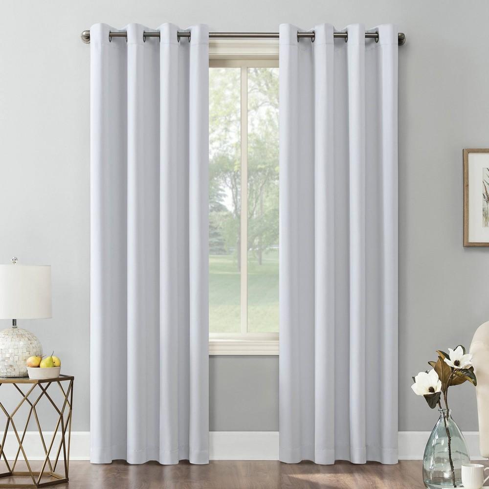108 34 X54 34 Kenneth Energy Saving Blackout Grommet Top Curtain Panel White Sun Zero