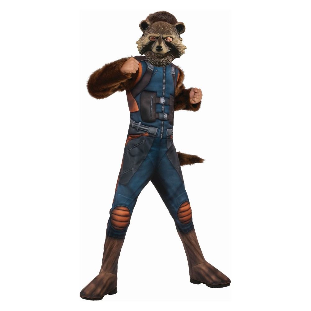 Kids' Marvel Rocket Raccoon Deluxe Halloween Costume M, Boy's, Multicolored