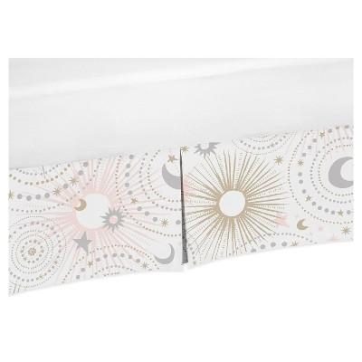 Sweet Jojo Designs Crib Bed Skirt - Celestial - Pink/Gold