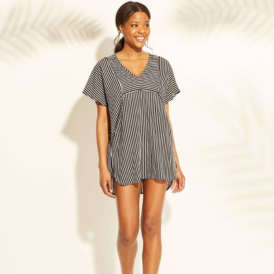 885ae7a3ec6a Women s Woven Kaftan Cover Up Dress - Xhilaration™ Black Stripe