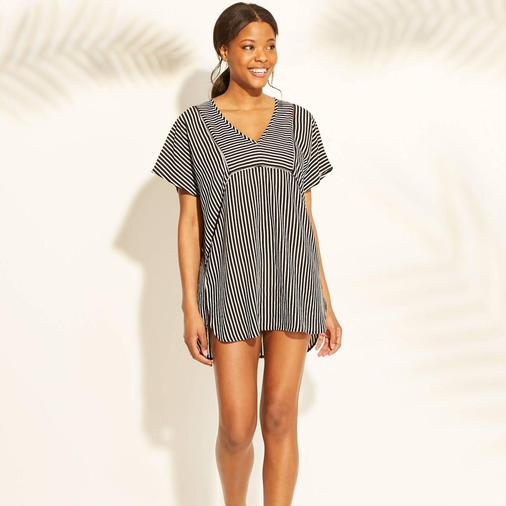 3387a74a22 Womens Woven Kaftan Cover Up Dress Xhilaration Black Stripe XL