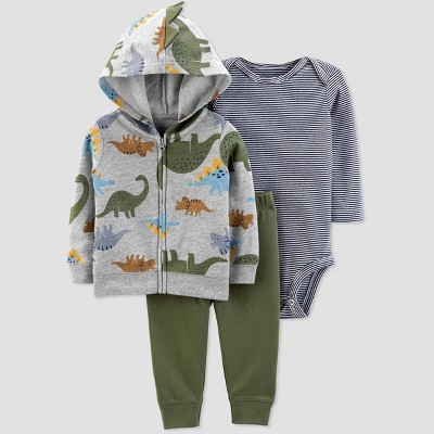 Baby Boys' Dino Cardigan Top & Bottom Set - Just One You® made by carter's Gray/Blue/Green 9M