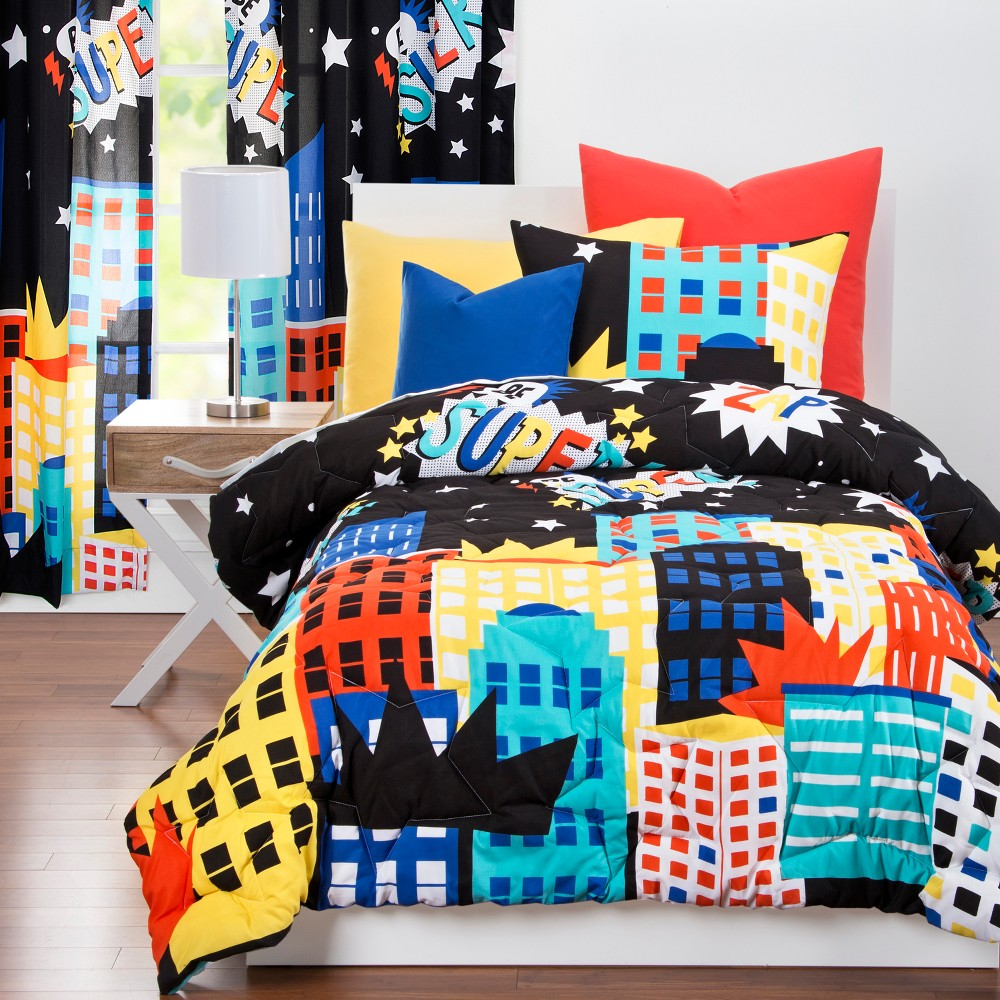 Image of Be Super Inspirational Comforter Set (Full/Queen) - Learning Linens