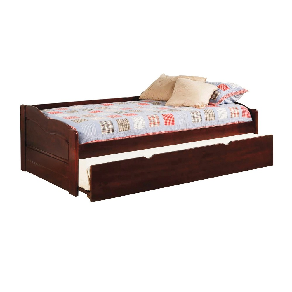 Sun & Pine Sersa Daybed with Twin Trundle in Cherry, Cherrywood