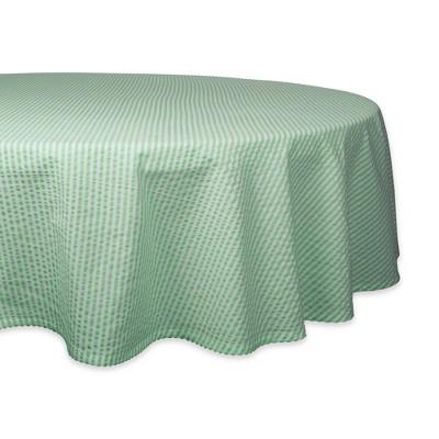 70  Round Seersucker Tablecloth Green - Design Imports