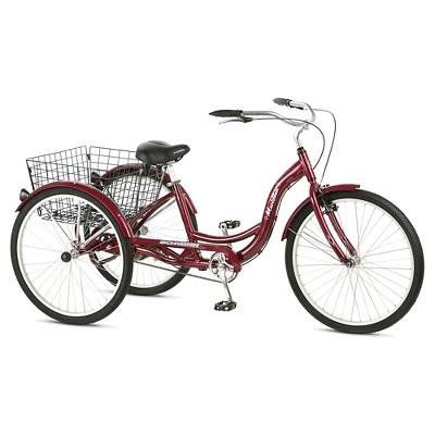 Schwinn Adult Meridian 26  3-Wheel Bike - Burgundy