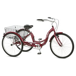 "Schwinn Adult Meridian 26"" 3-Wheel Bike - Burgundy"