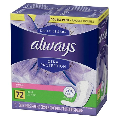 Always Xtra Protection Active Dailies Fresh Scented Pantiliners - 72ct - image 1 of 5
