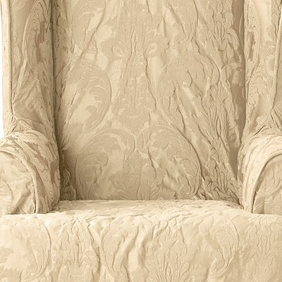 Matelasse Damask Wing Chair Slipcover Sure Fit Target