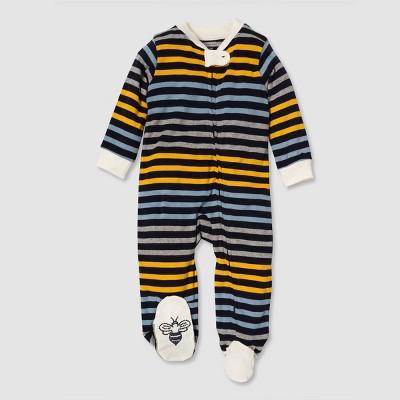 Burt's Bees Baby® Baby Boys' Organic Cotton Stripe Sleep N' Play - Blue 3-6 M