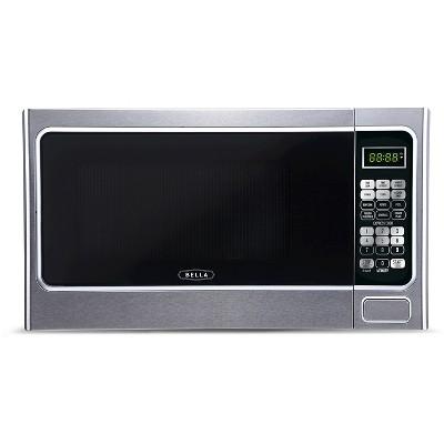 Bella 1.1 Cu. Ft. 1000 Watt Microwave Oven - Silver