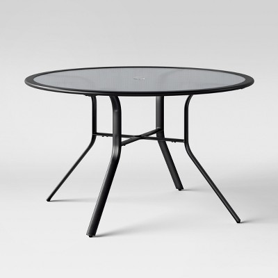 avalon 48 round glass patio dining table project 62 target rh target com round glass table top replacement round glass table top ikea