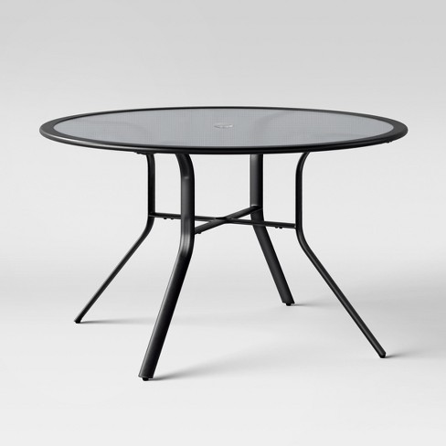 Avalon 48 Quot Round Glass Patio Dining Table Project 62