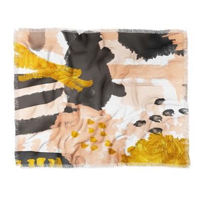 "60""X50"" Rebecca Allen Breakfast With Grace Kelly Throw Blanket Brown - Deny Designs"