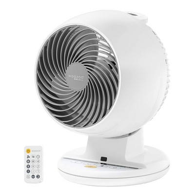 IRIS USA Woozoo Remote Controlled Desktop Portable Small Oscillating Circulating Fan Fits Desk, Office, End Table, or Bedroom, White
