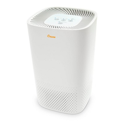 Crane True HEPA Filter Air Purifier - White