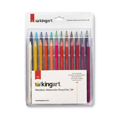 Kingart 24ct Watercolor Pencil Set
