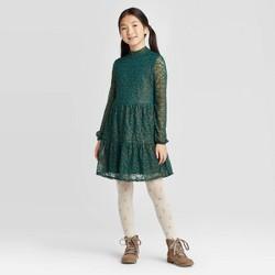 Girls' Tiered Lace Dress - art class™